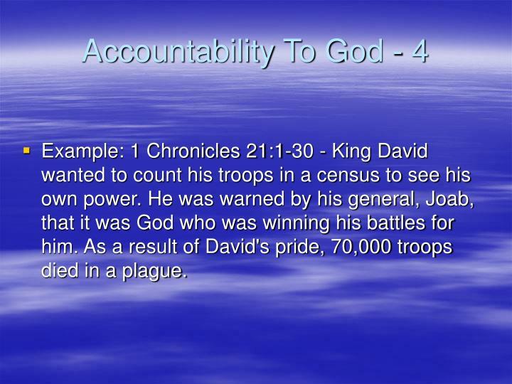 Accountability To God - 4