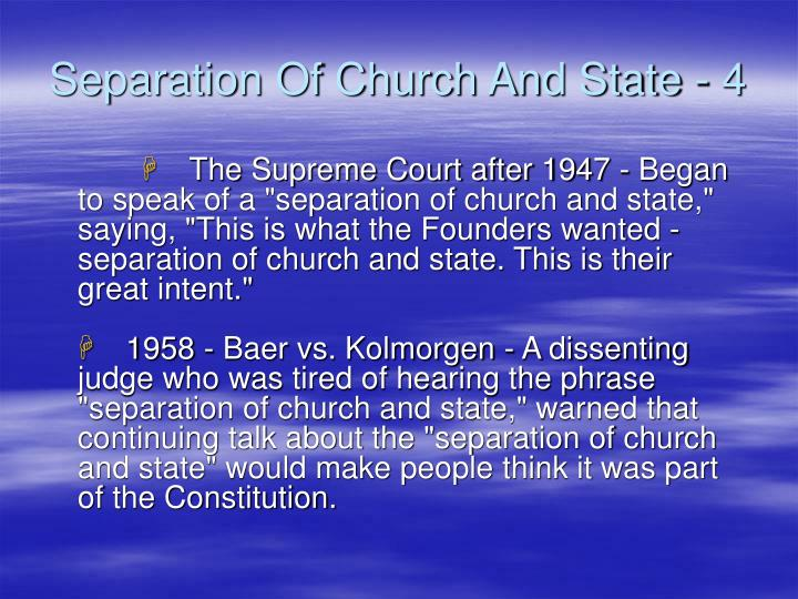 Separation Of Church And State - 4