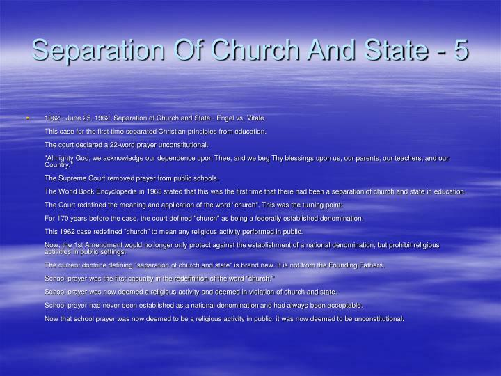 Separation Of Church And State - 5