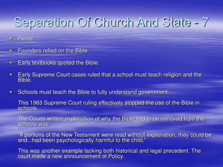 Separation Of Church And State - 7