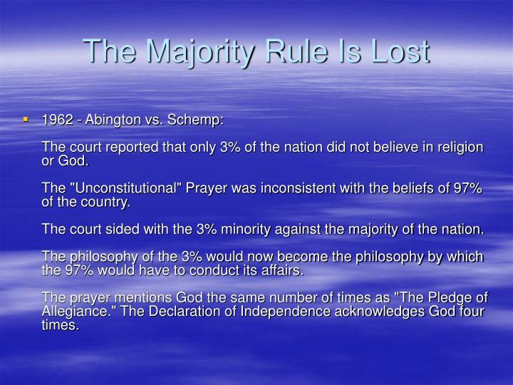 The Majority Rule Is Lost