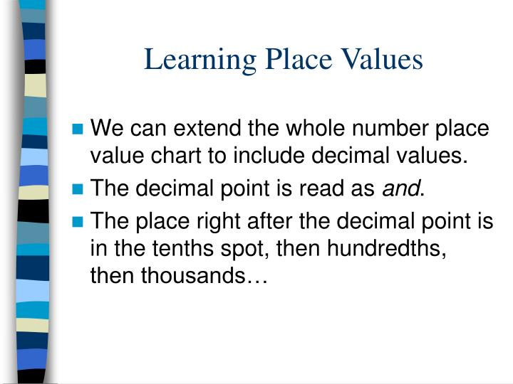 Learning Place Values