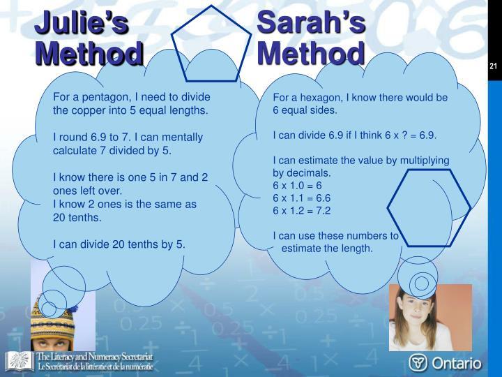 Sarah's Method