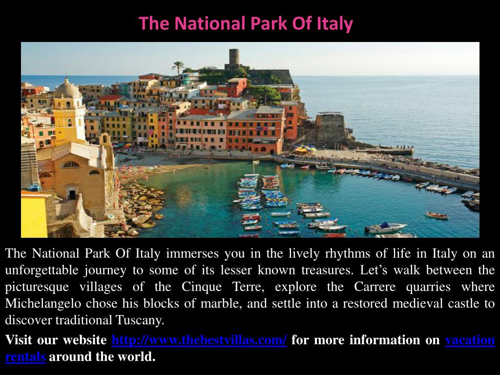 The National Park Of Italy