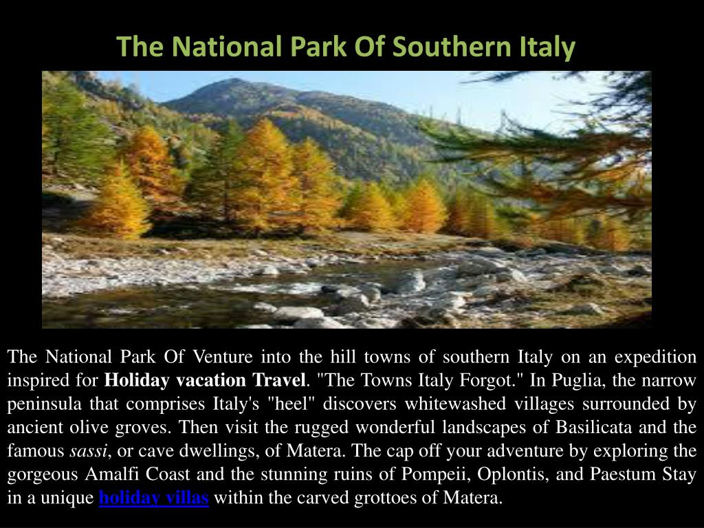 The National Park Of Southern Italy
