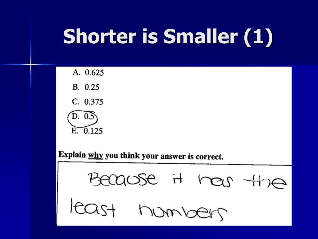 Shorter is Smaller (1)
