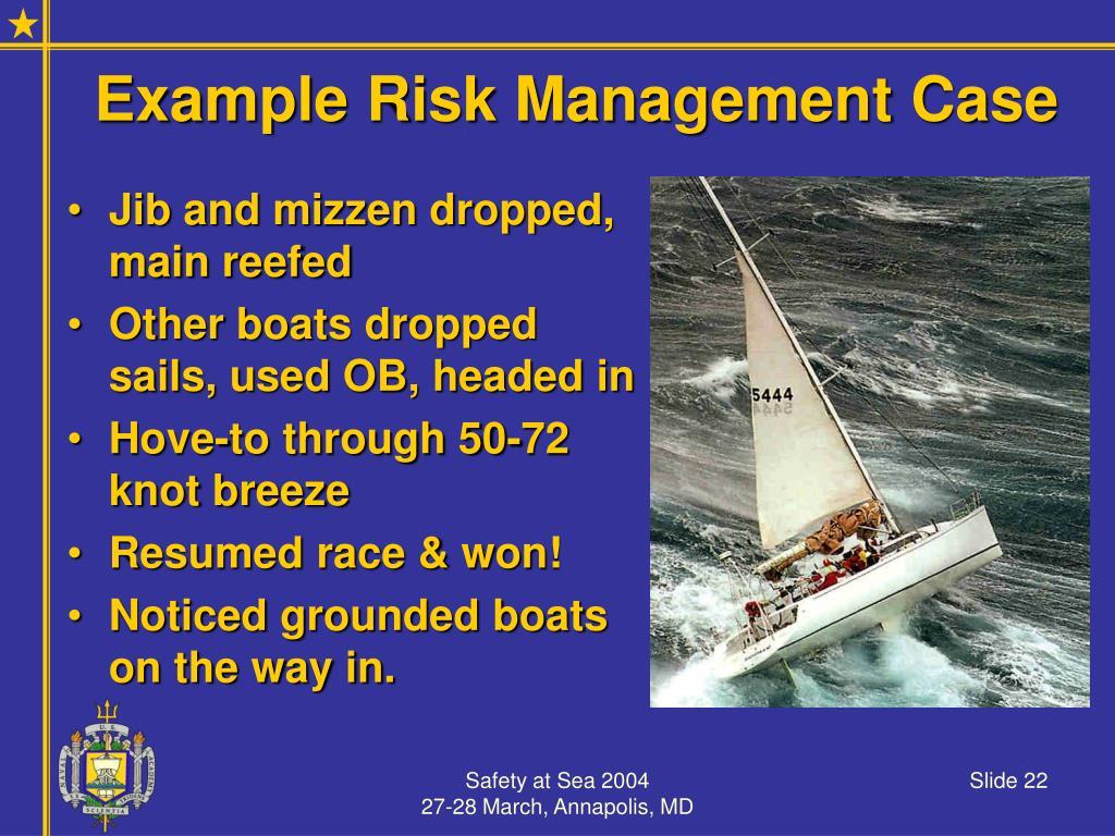 Example Risk Management Case