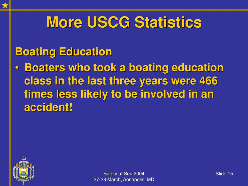 More USCG Statistics