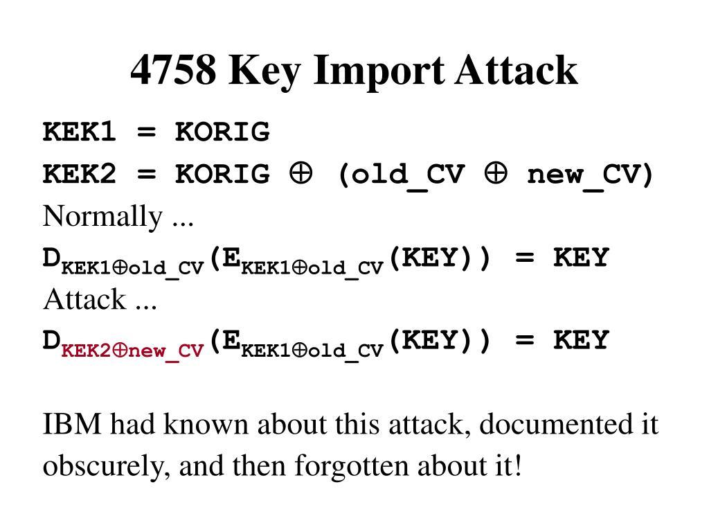 4758 Key Import Attack