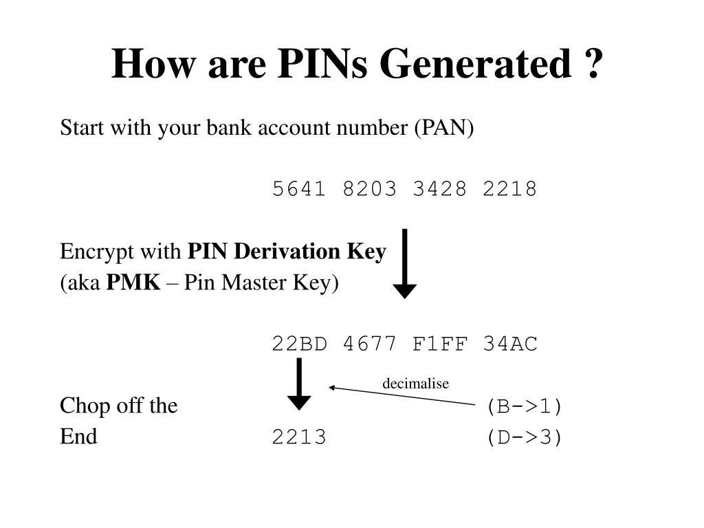 How are PINs Generated ?