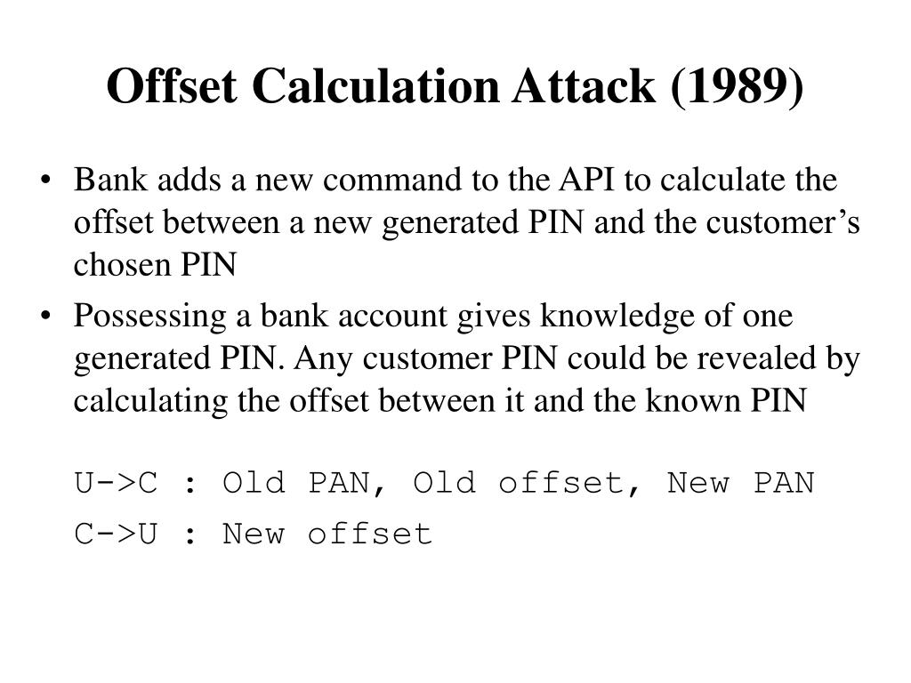 Offset Calculation Attack (1989)