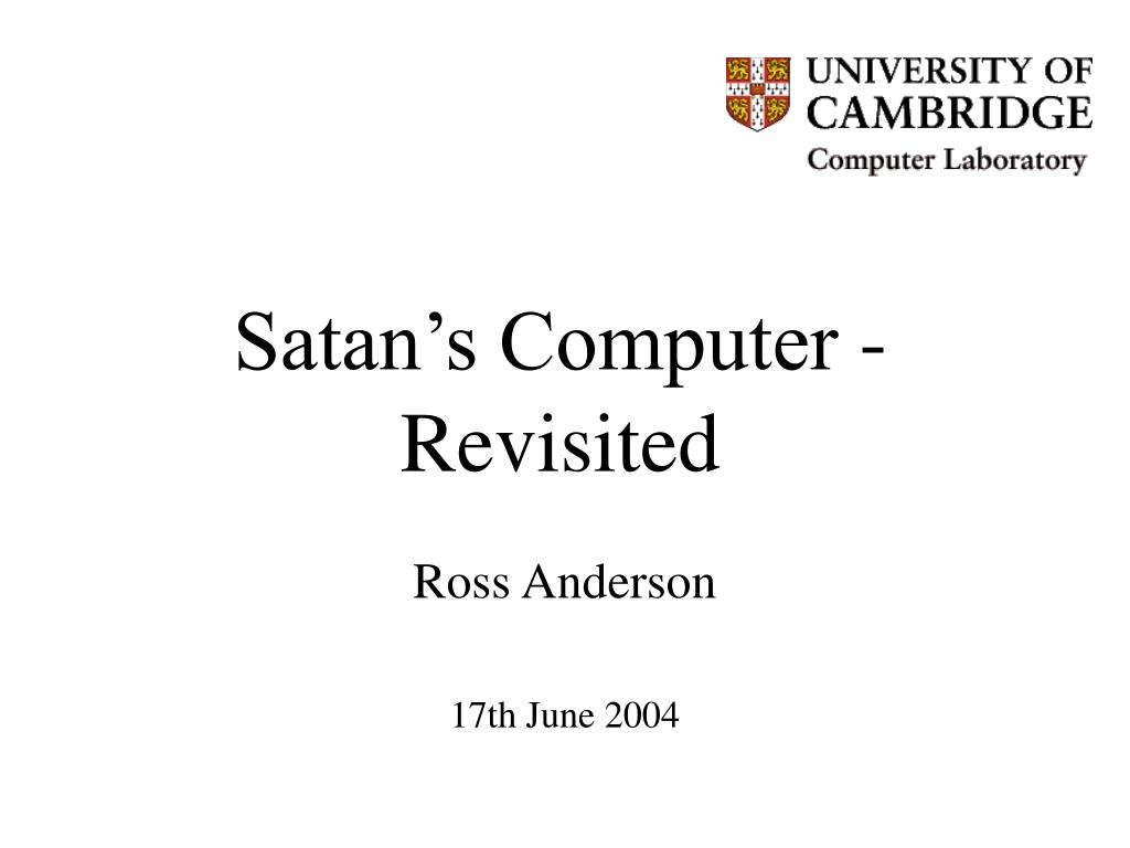 Satan's Computer - Revisited