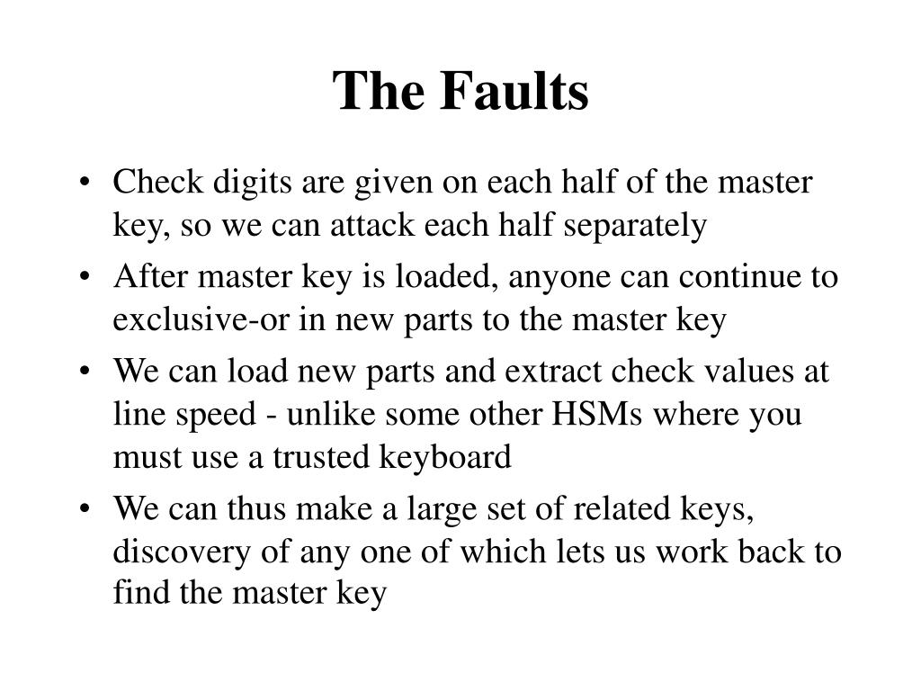 The Faults