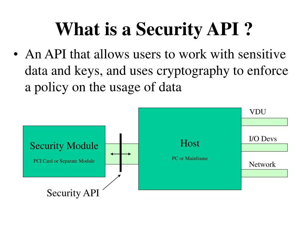 What is a Security API ?