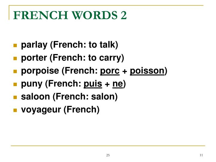 FRENCH WORDS 2