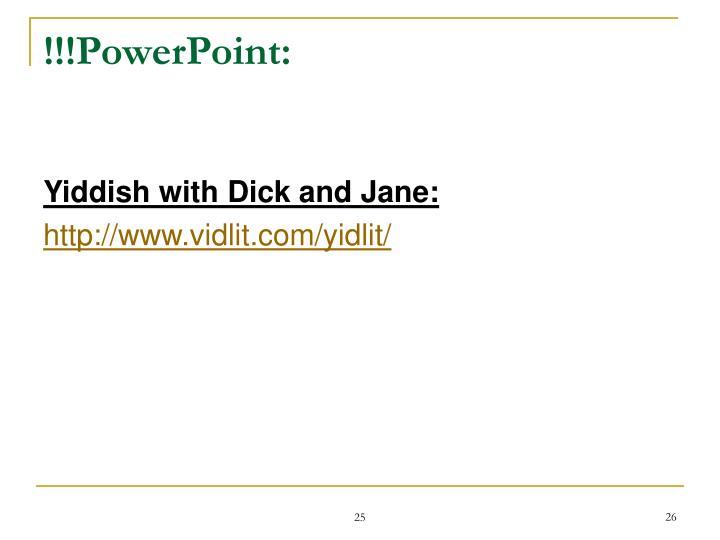 !!!PowerPoint: