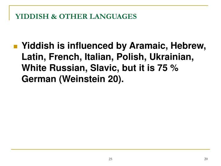 YIDDISH & OTHER LANGUAGES