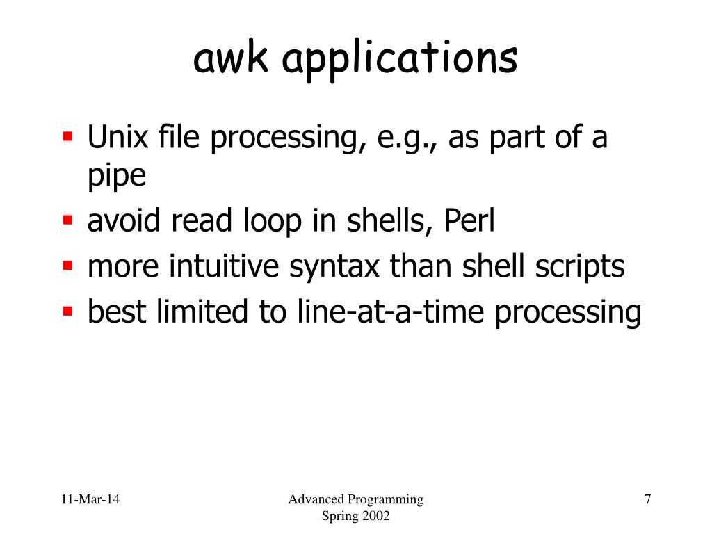 awk applications