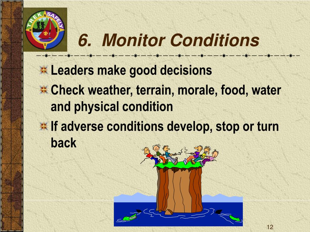 6.  Monitor Conditions