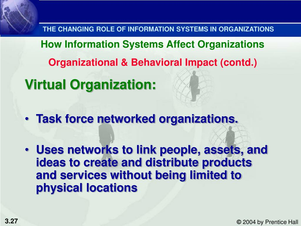 THE CHANGING ROLE OF INFORMATION SYSTEMS IN ORGANIZATIONS