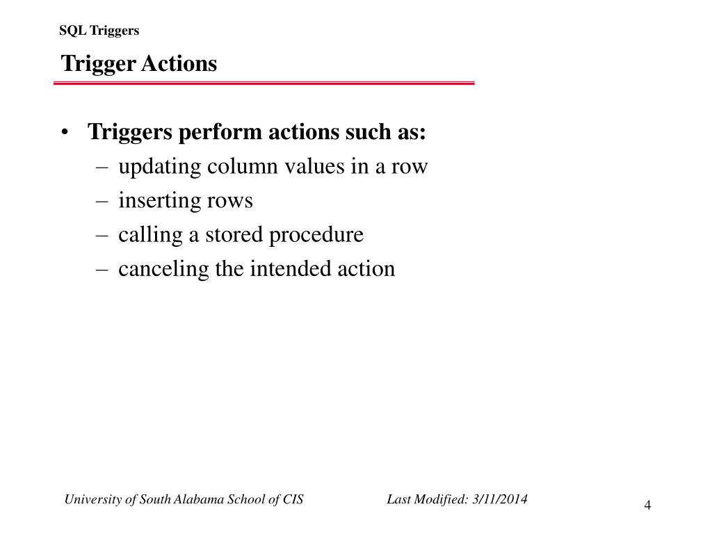 Trigger Actions