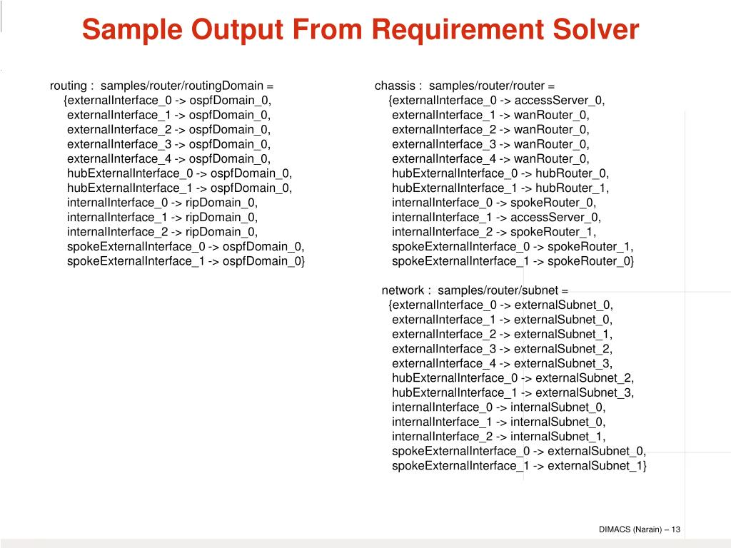 routing :  samples/router/routingDomain =
