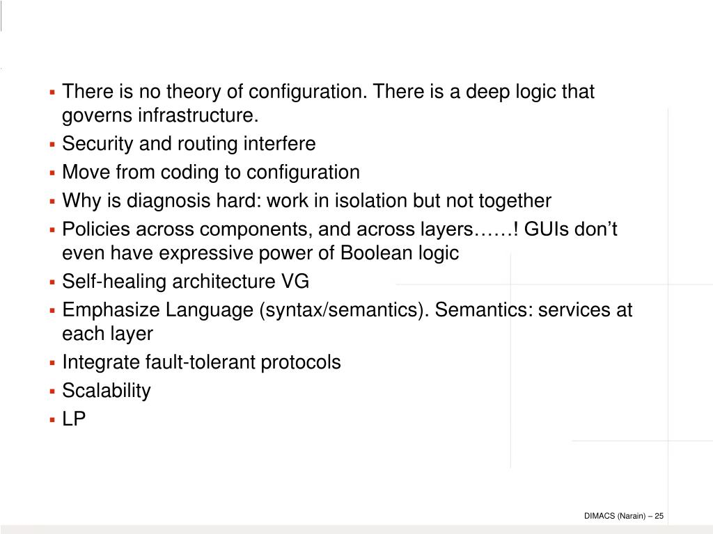 There is no theory of configuration. There is a deep logic that governs infrastructure.