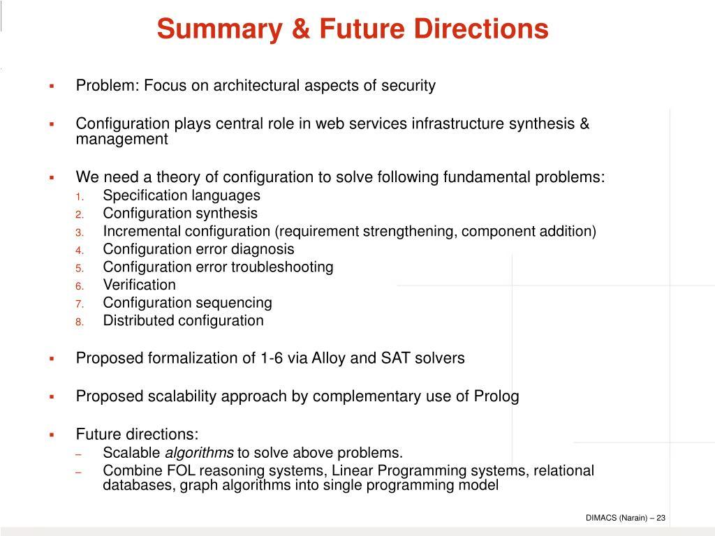 Summary & Future Directions