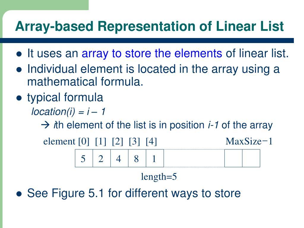element [0]  [1]  [2]  [3]  [4]                           MaxSize