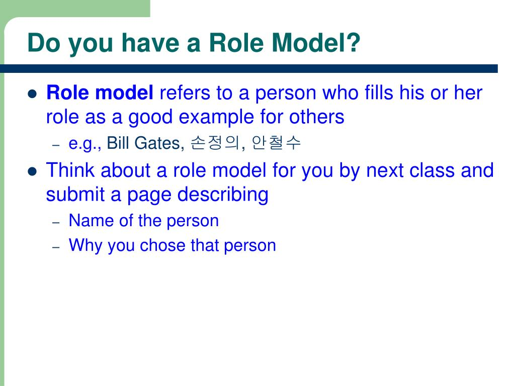 Do you have a Role Model?