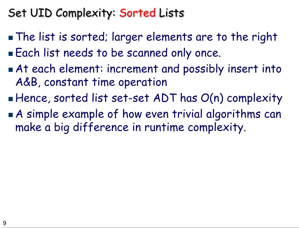 Set UID Complexity: