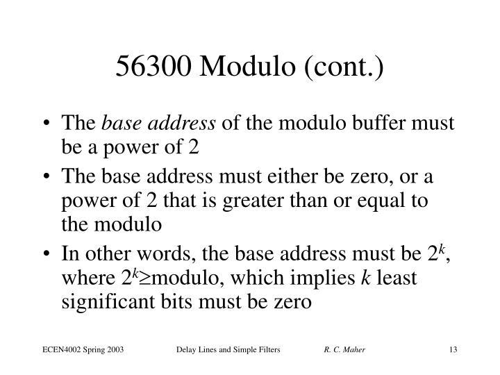 56300 Modulo (cont.)