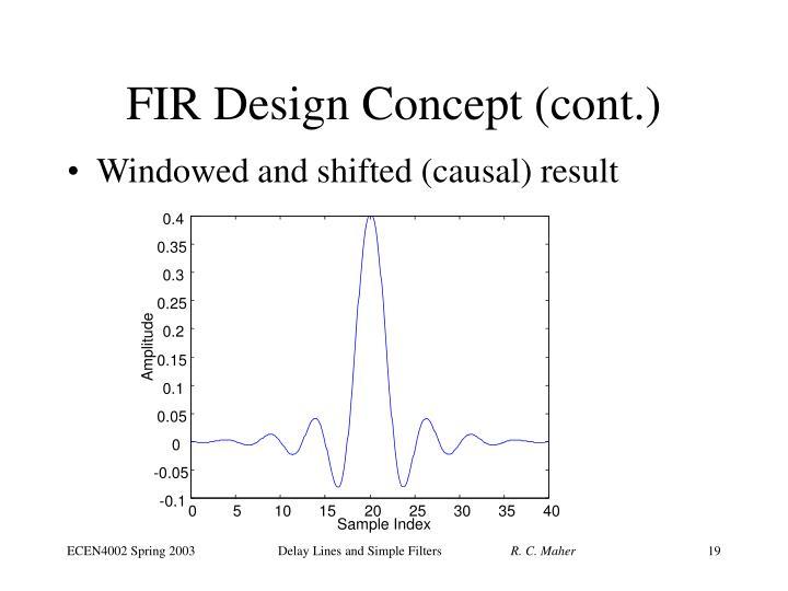 FIR Design Concept (cont.)