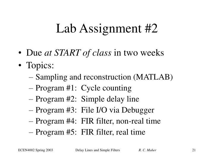 Lab Assignment #2