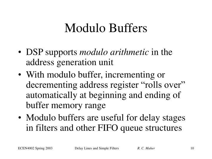 Modulo Buffers