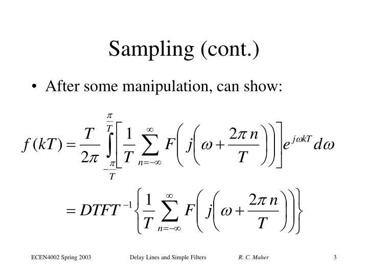 Sampling (cont.)