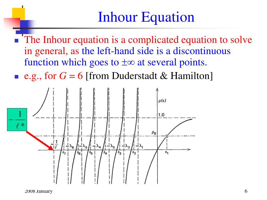 Inhour Equation