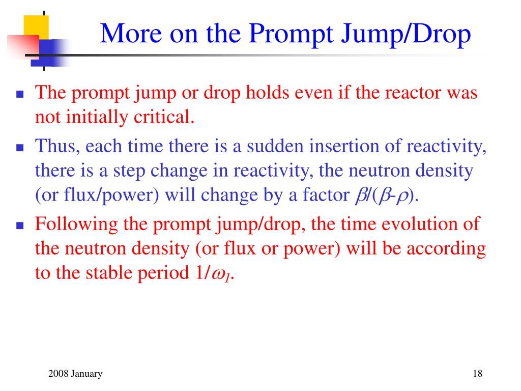 More on the Prompt Jump/Drop