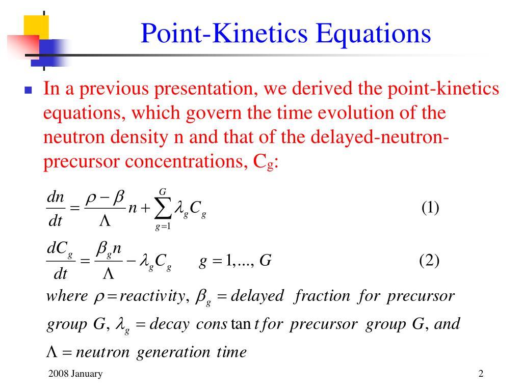 Point-Kinetics Equations
