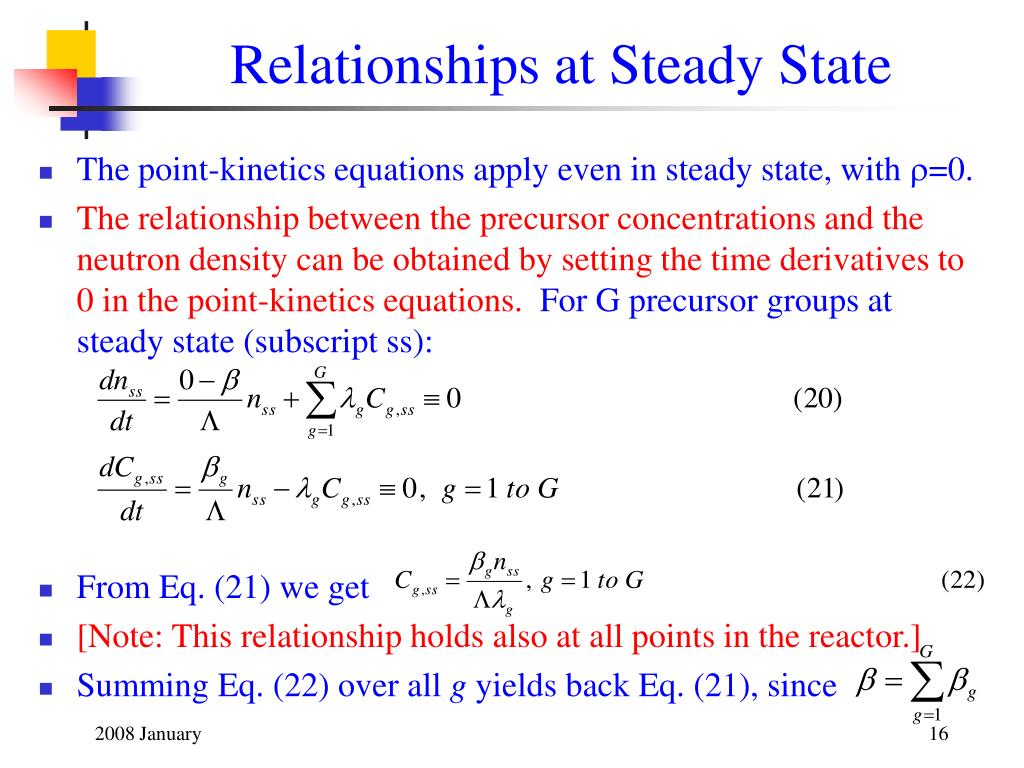 Relationships at Steady State