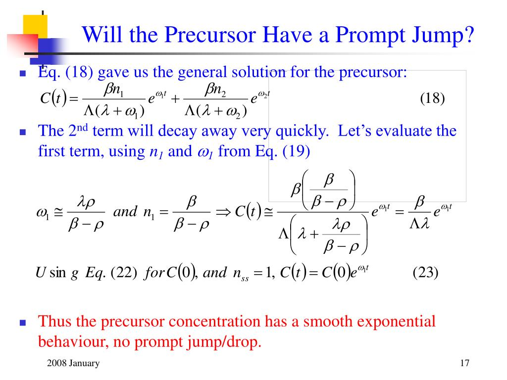 Will the Precursor Have a Prompt Jump?