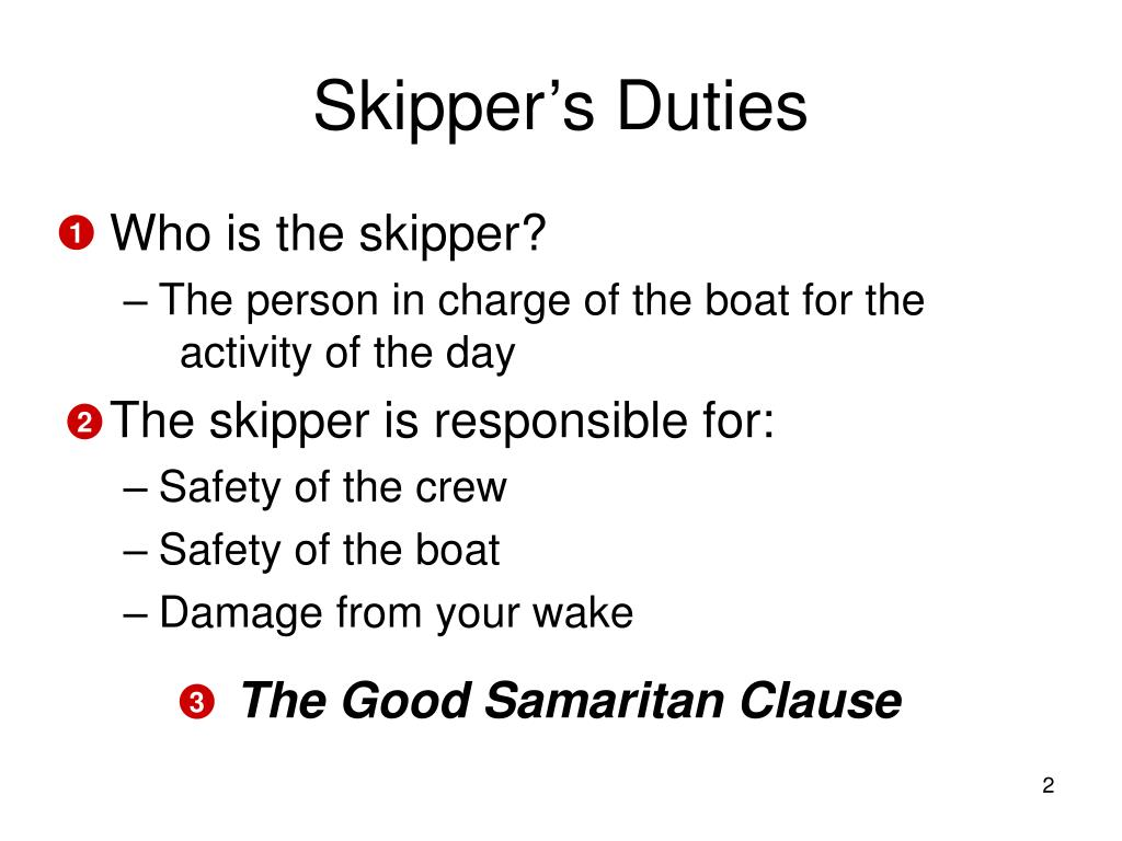 Skipper's Duties