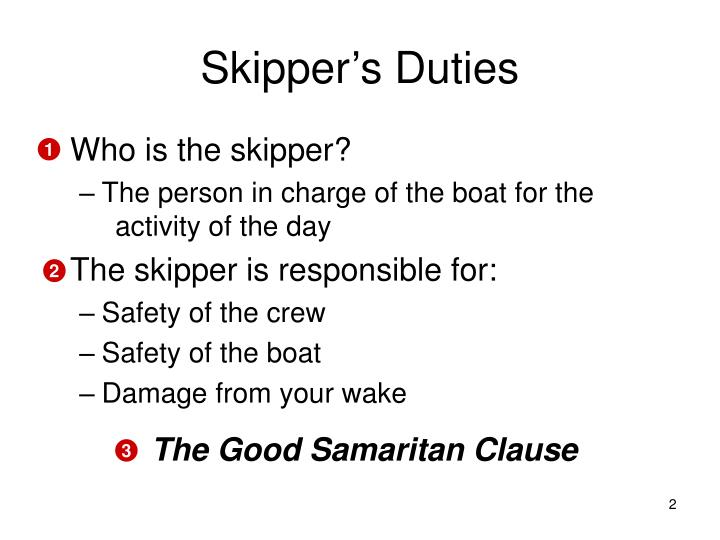 Skipper s duties