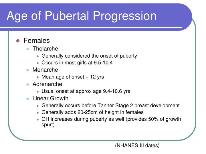Age of Pubertal Progression