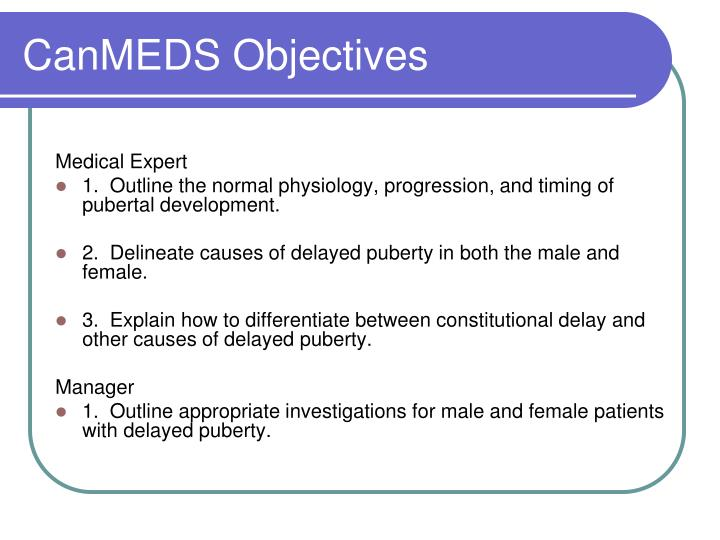 CanMEDS Objectives