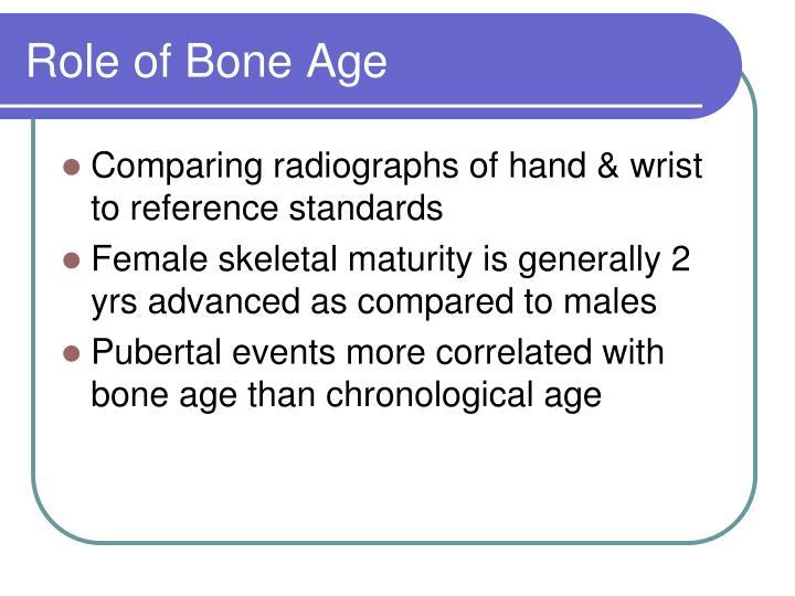 Role of Bone Age