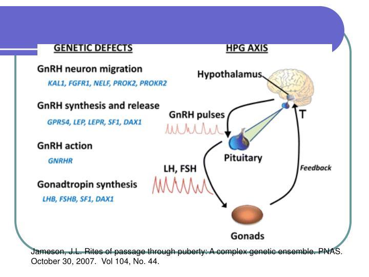 Jameson, J.L. Rites of passage through puberty: A complex genetic ensemble. PNAS.