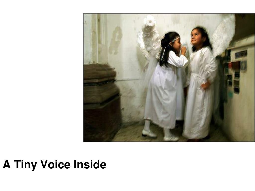 A Tiny Voice Inside