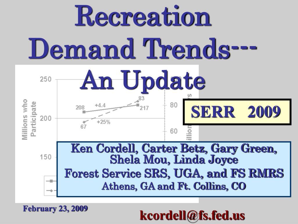 Recreation Demand Trends---
