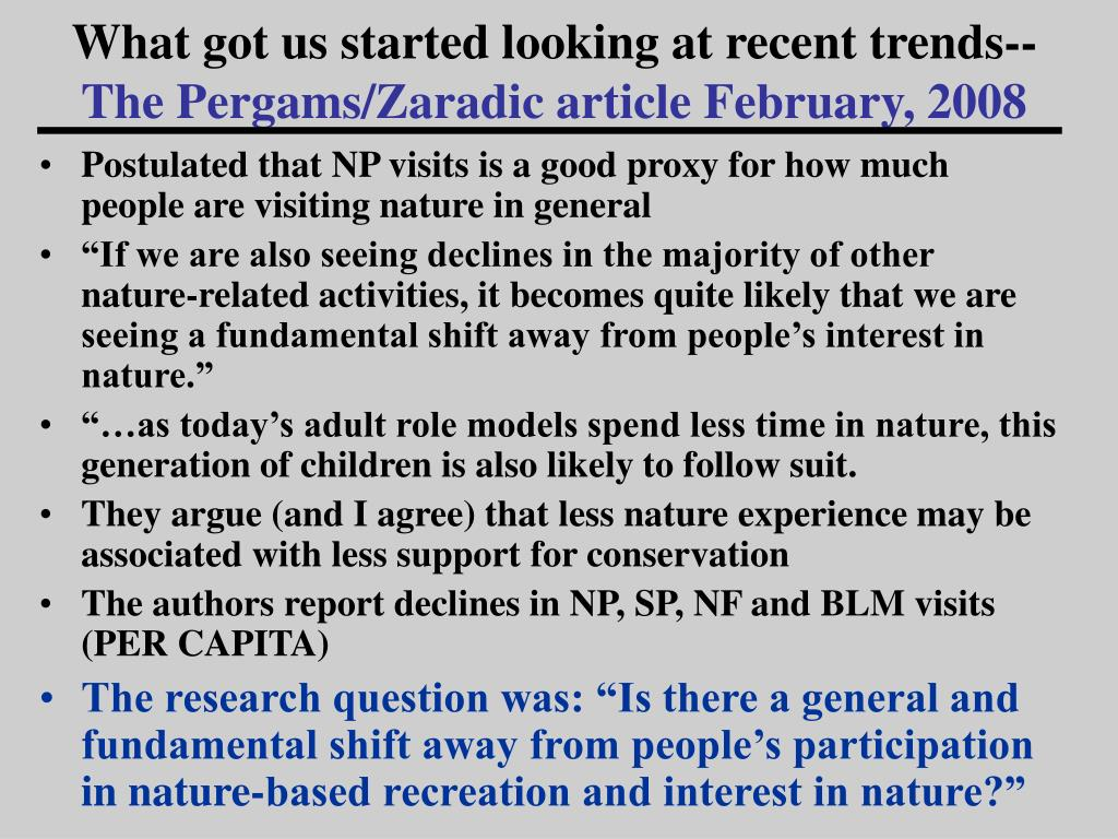 What got us started looking at recent trends--
